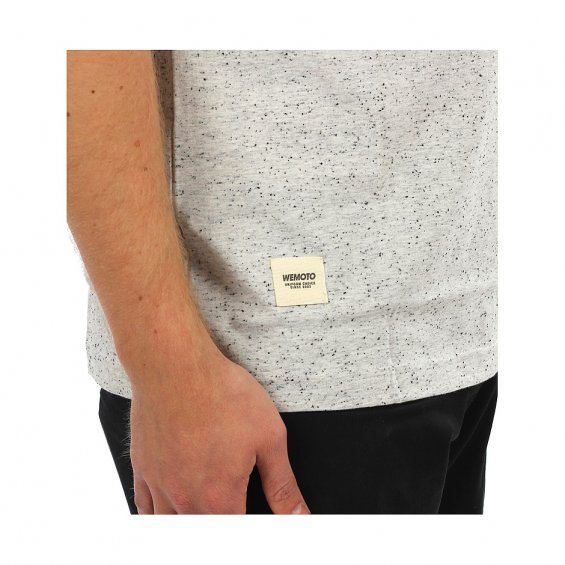 Wemoto Blake Pocket Tee, White Nep