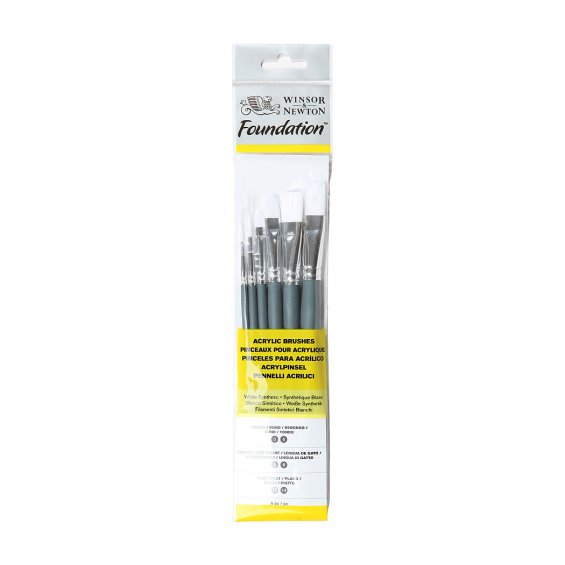 W&N Foundation Acrylic No.7, 6-Set