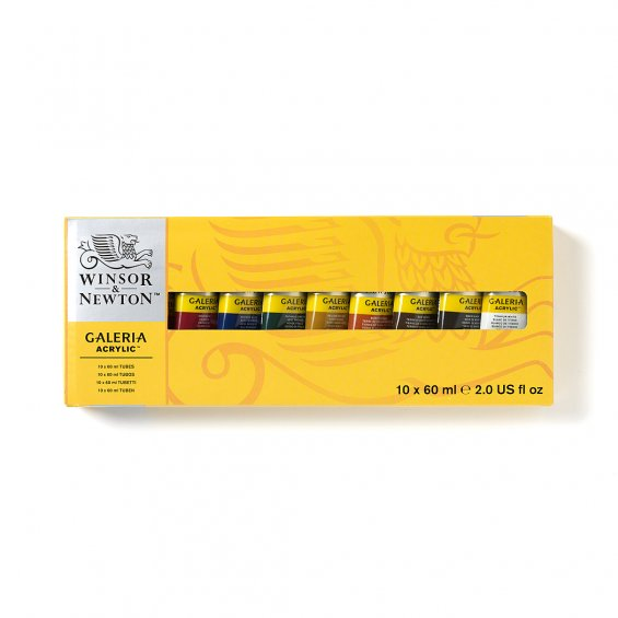 W&N Galeria Akrylfärg 60ml, 10-Set
