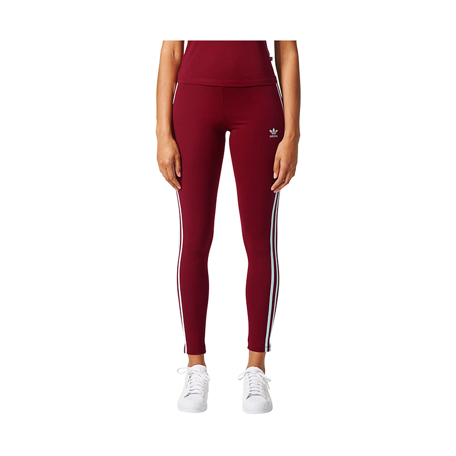 Adidas Originals W 3-Stripes Leggings Burgundy | Highlights
