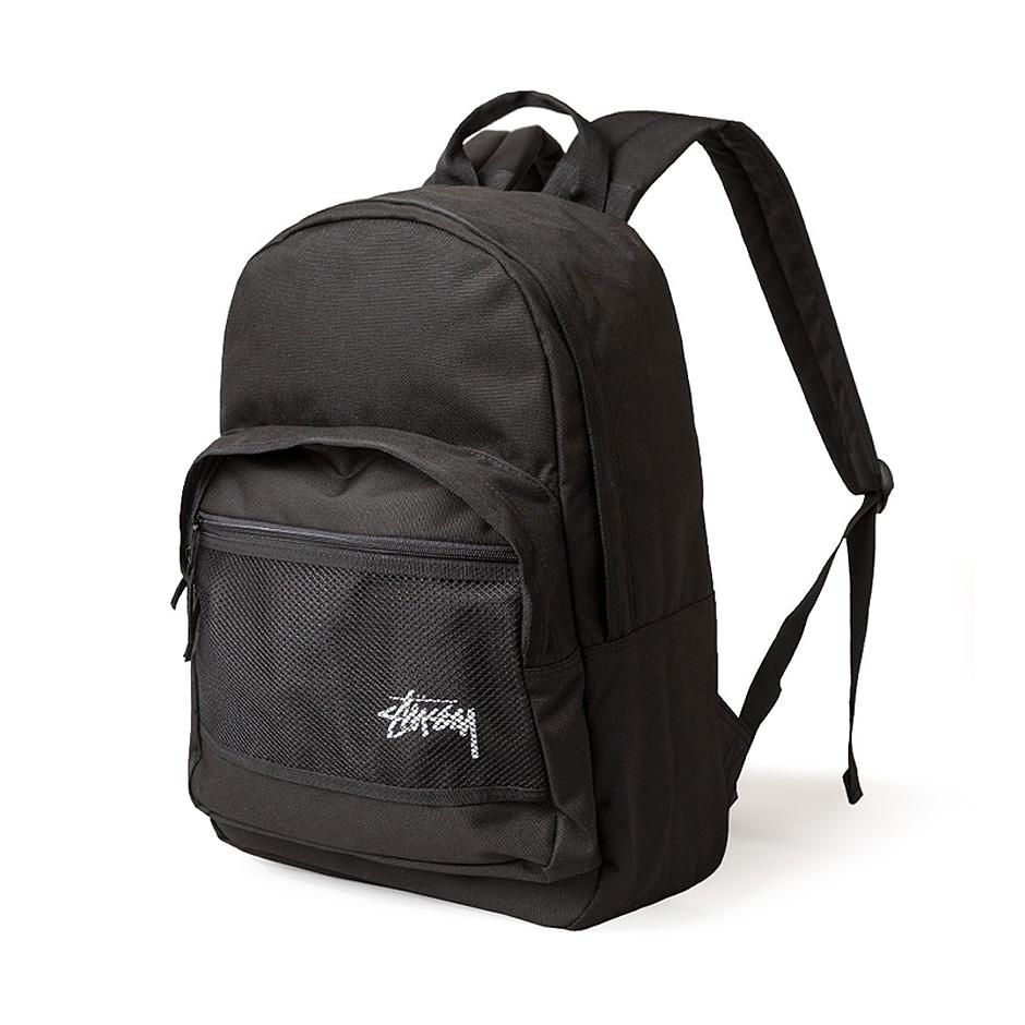 Stussy Stock Backpack Black Hlstore Com Highlights