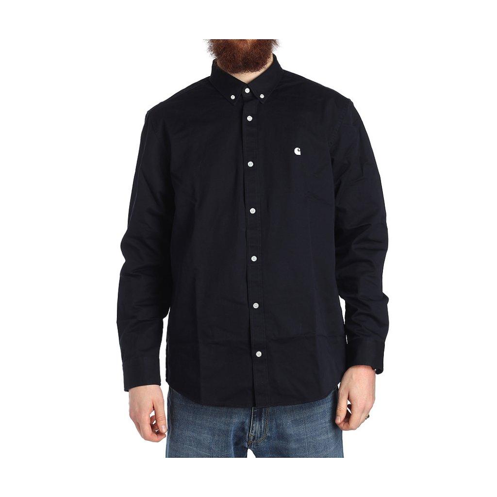 547bd198ab7a Carhartt LS Madison Shirt, Dark Navy Wax - Hlstore.com   Highlights