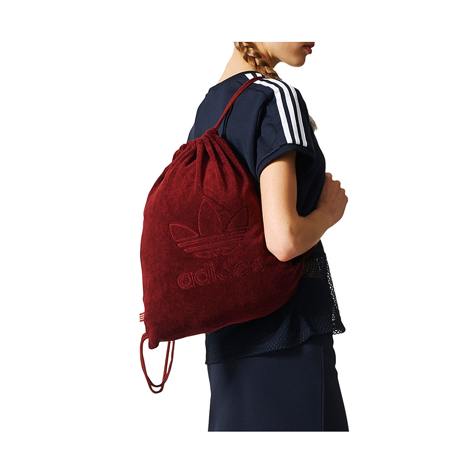 ... Burgundy Adidas Originals Gymsack 99c6a8894bb9e