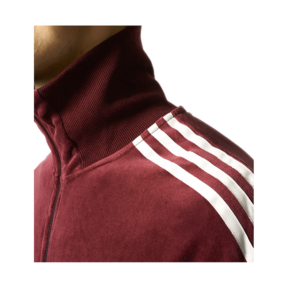 adidas Originals CLR84 Velour Track Top | Red | Track tops
