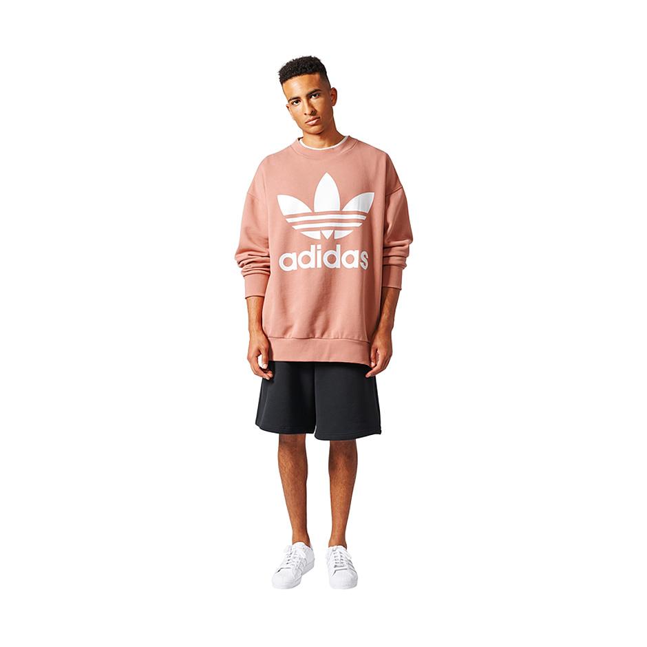 Subjetivo Empleado Cambios de  Adidas Originals ADC F Crew, Raw Pink - Hlstore.com | Highlights