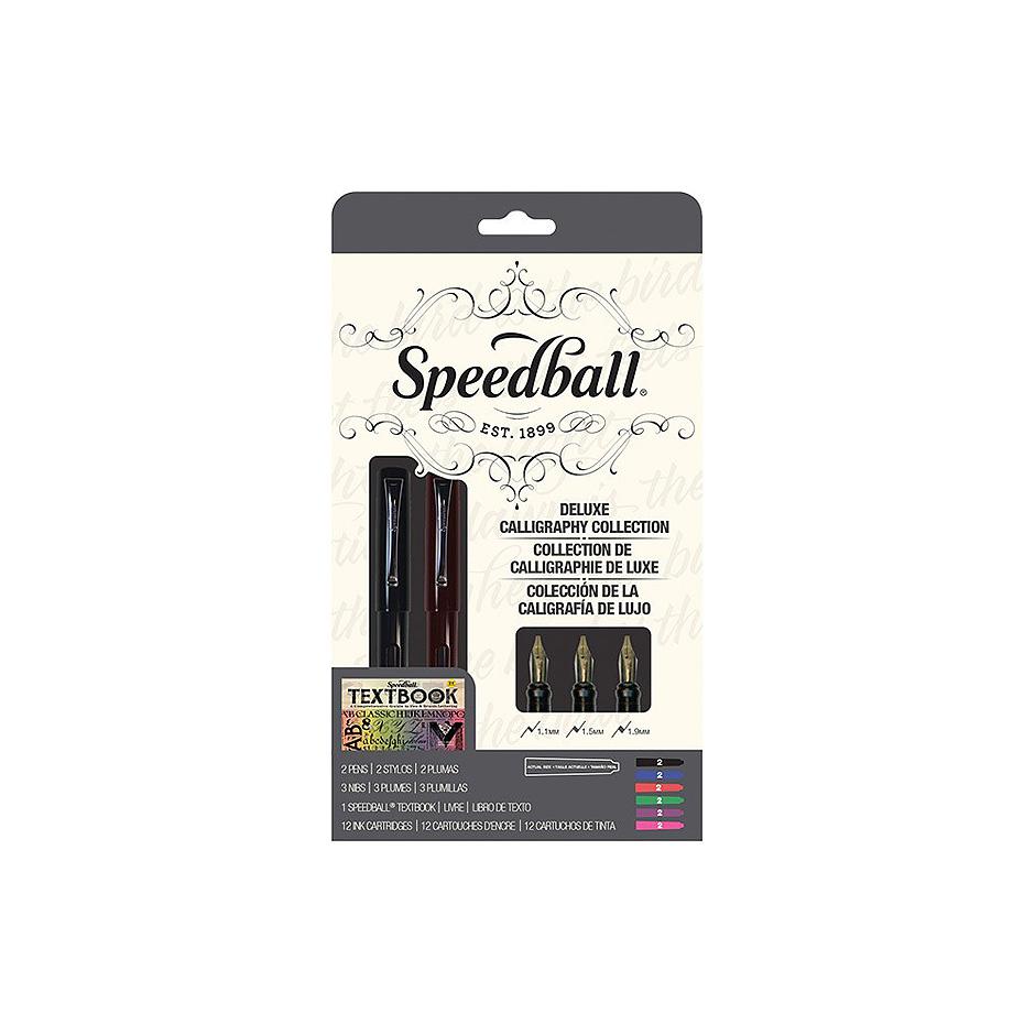 Speedball Calligraphy Fountain Pen Deluxe Set Highlights