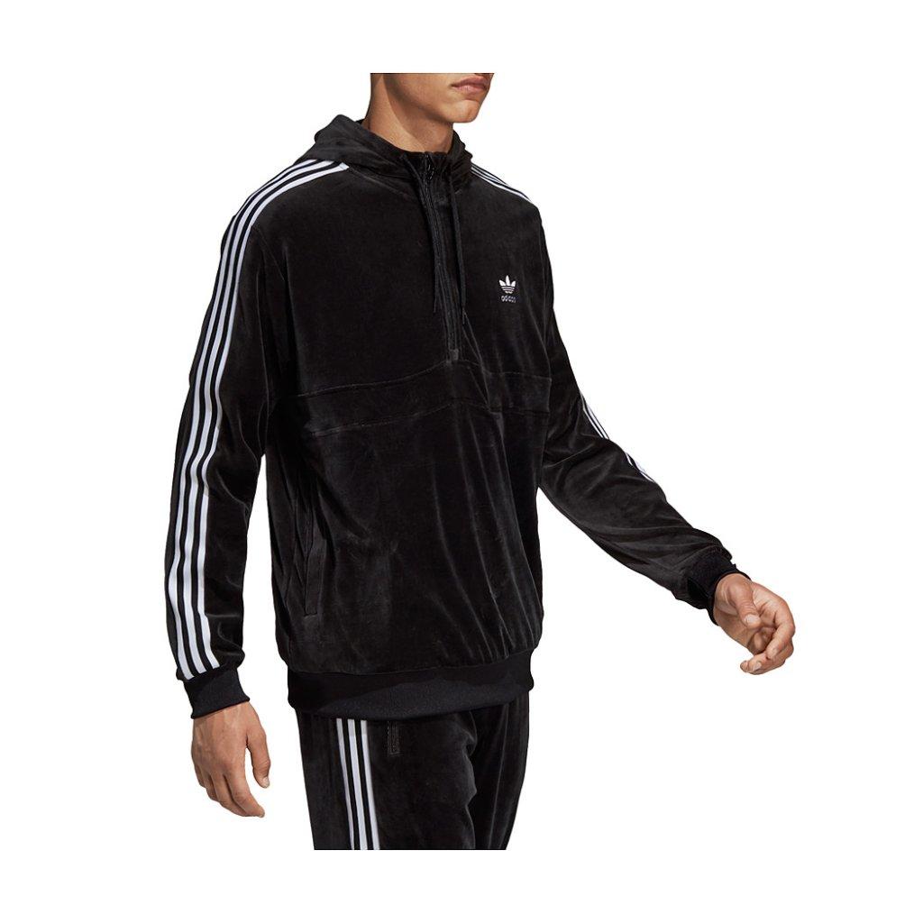 Adidas Originals Cozy Halfzip, Black | Highlights
