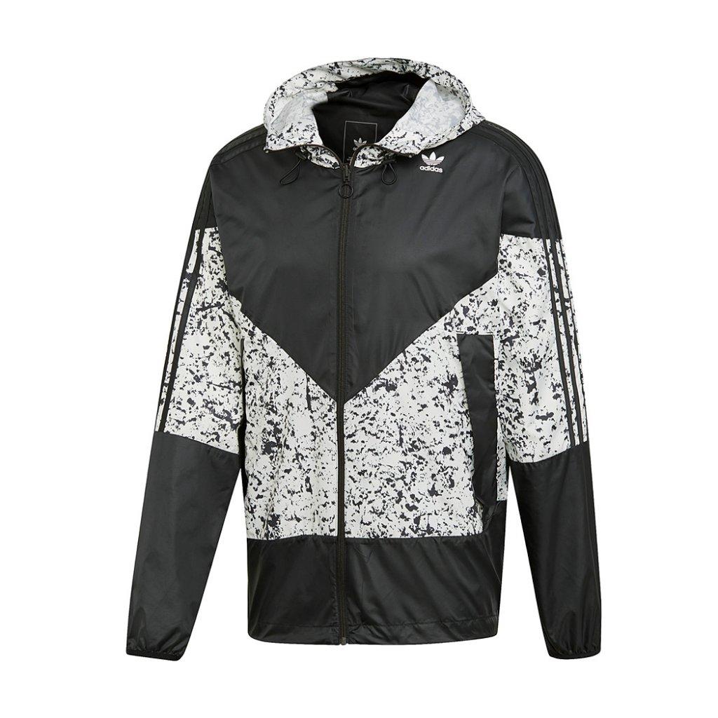 35280c468 Adidas Originals PT3 Karkaj Windbreaker Jacket, Black White   Highlights