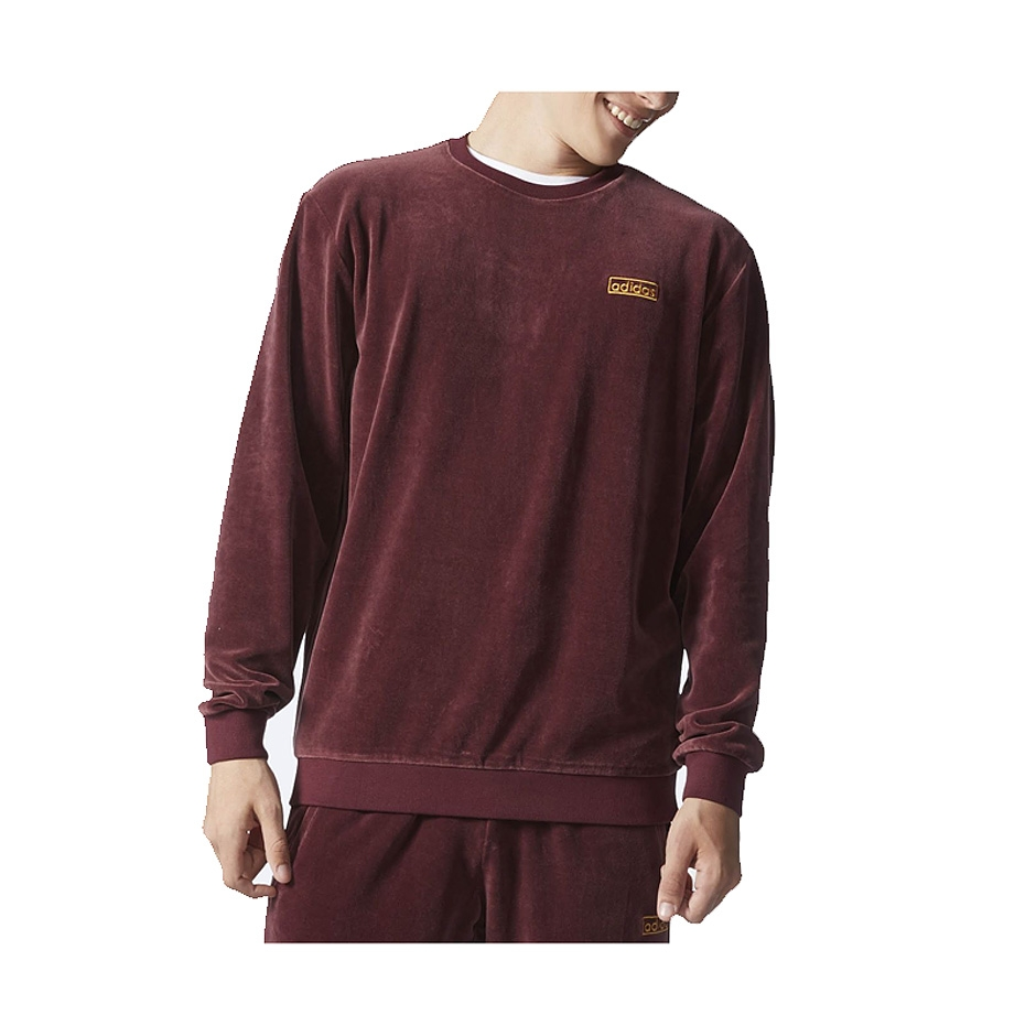 adidas velour crew maroon highlights. Black Bedroom Furniture Sets. Home Design Ideas