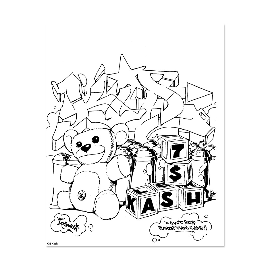 Graffiti Coloring Book 3 Highlights