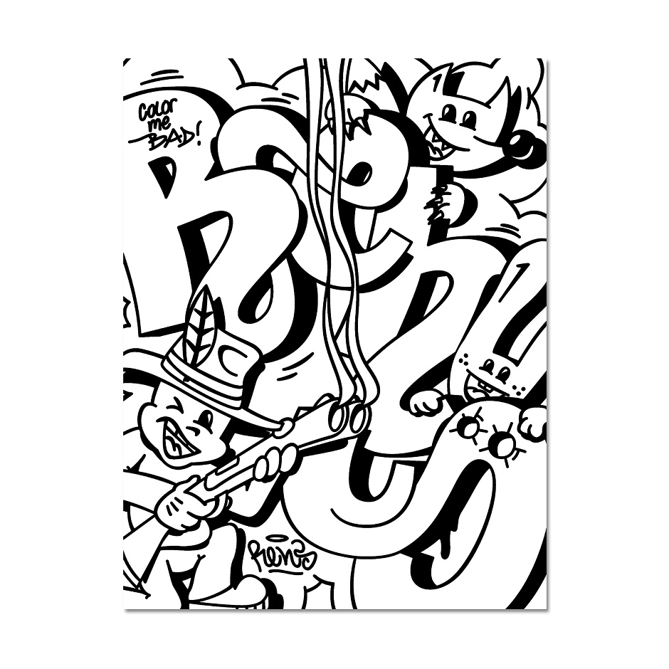 graffiti coloring book 3 - Graffiti Coloring Book