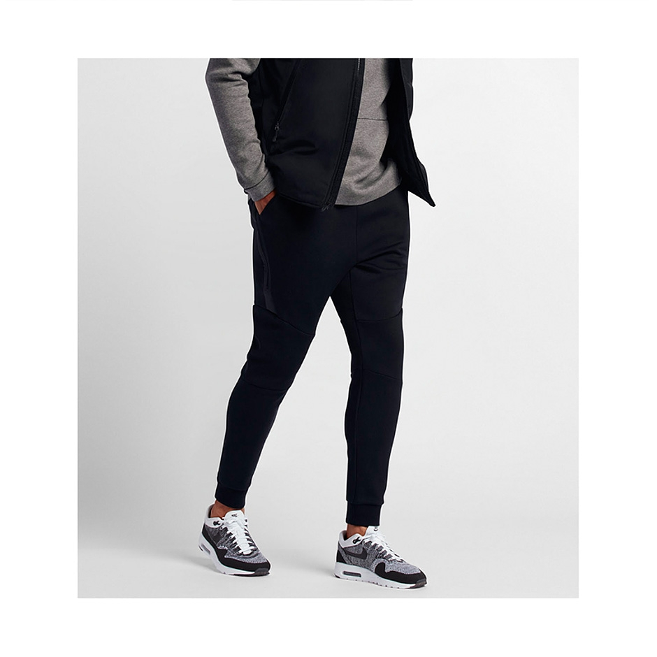 fc30352025a8 ... Black Nike Tech Fleece Jogger Pants