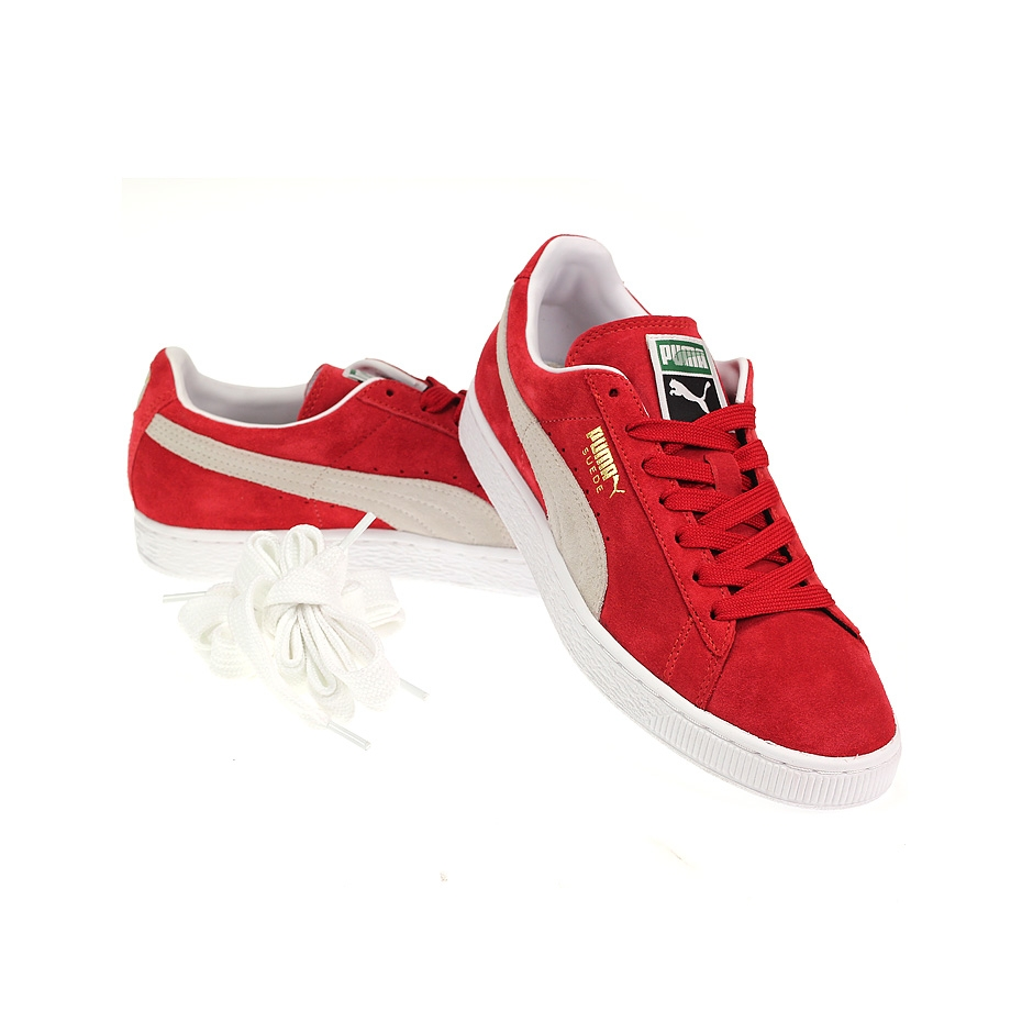 sports shoes 3c8cc b1af7 puma suede red and white