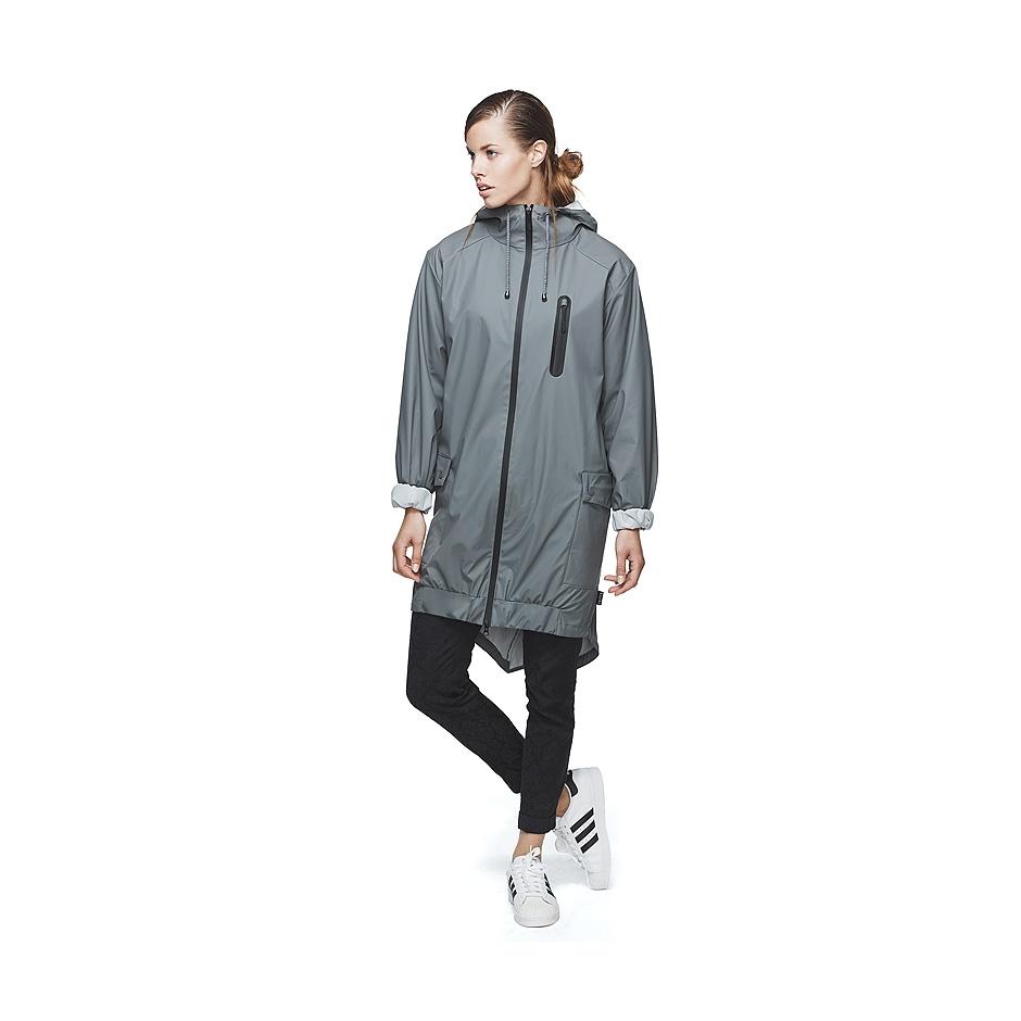 Rains Parka Coat, Grey | Highlights
