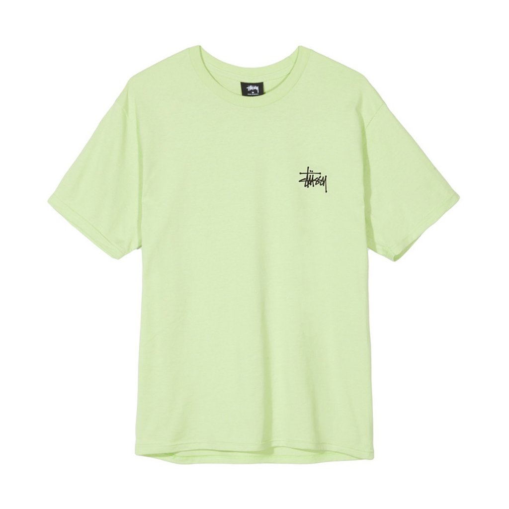 33c258339fb2 Stussy Basic Stussy Tee, Pale Green - Hlstore.com | Highlights